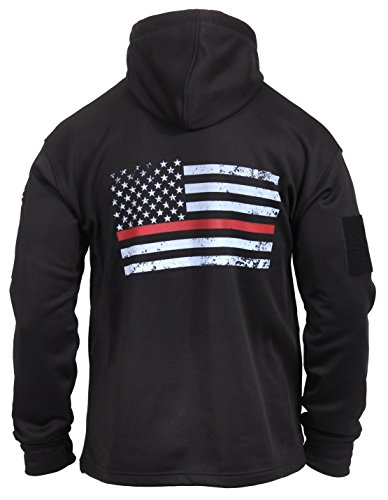 Rothco Thin Red Line Concealed Carry Hoodie, Medium