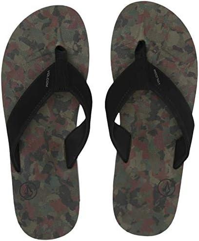 14 D US Volcom Mens Rocker 2 Solid Flip Flop Sandal Dark camo
