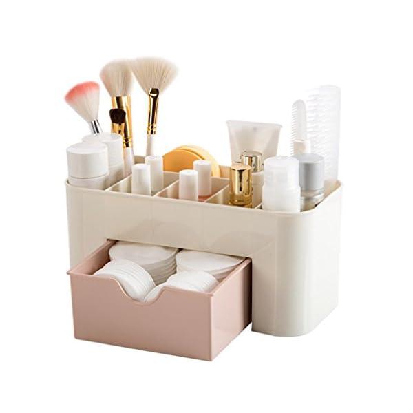 Caja Para Cosméticos Paellaesp Organizador Guardar Espacio De Escritorio Maquillaje Cajón De Almacenamiento De Tipo Caja (Rosa) 41trj Nd1RL