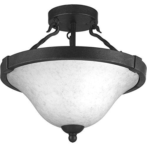 Progress Lighting P3671-71 3-100W Medium Base Semi-Flush Convertible, Gilded Iron