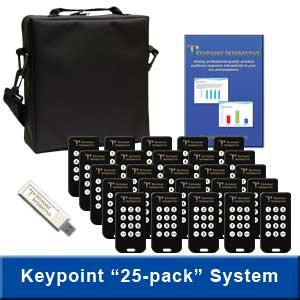 Keypoint Interactive Audience Response System with 25 Keypads (Best Audience Response System)