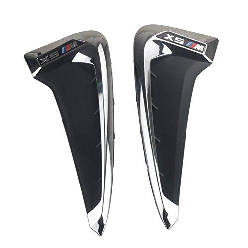sourcingmap Black Decorative Air Flow Intake Scoop Turbo Bonnet Vent Hood Fender Cover for Auto Car