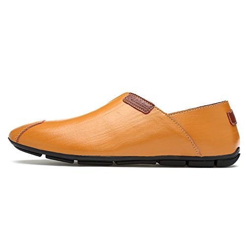 Light EU Uomo Comodi On Shufang Scarpe Uomo 39 Mocassini Scarpe shoes Mocassini Casual Guida Moda Dimensione Color Brown Casual 2018 Slip Mocassini Da zwqB7Uz