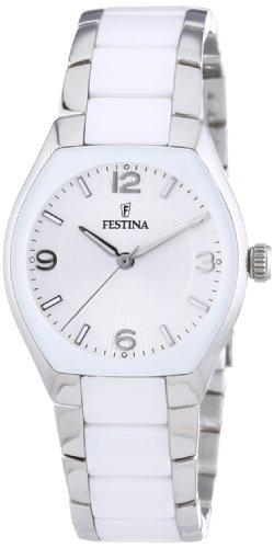 Festina Trend Ceramic F16533/1 - Reloj analógico de cuarzo para mujer, correa de cerámica color blanco: Festina: Amazon.es: Relojes