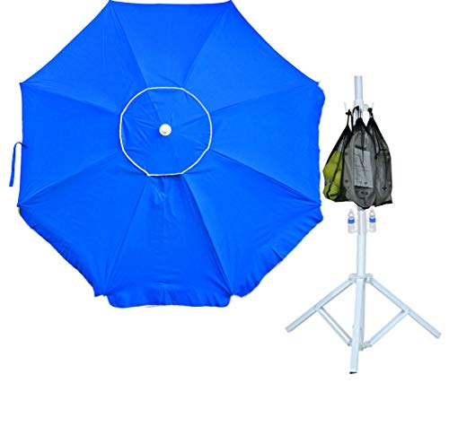 6.5 ft Portable Umbrella UPF 100+ and Tripod Stand plus Utility Hook. for Sports Umbrella, Baseball, Soccer