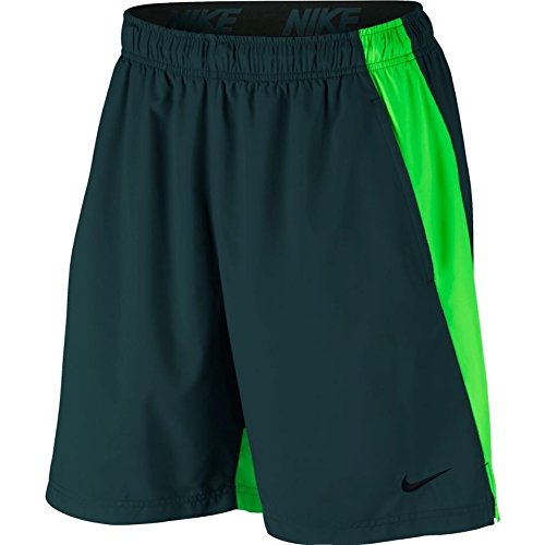 NIKE Men's Flex Woven Training Short (L, Deep Jungle/Green (Nike Green Training Shorts)