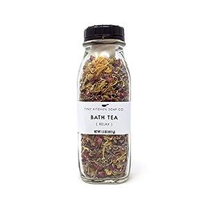 Organic Herbal Bath Tea - Relax - Handmade with Reusable Muslin Bag