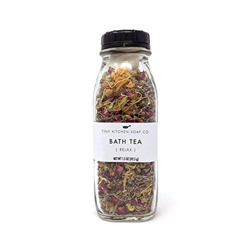 Organic Herbal Bath Tea - Relax - Handmade with Reusable Muslin (Herbal Bath Tea)