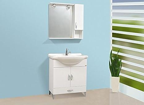 Composizione bagno completa cm.75 bianco base lavabo pensile