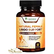 Female Libido Supplement Pills w Maca & Tribulus 1000mg - Excitement, Desire & Energy Support Vitamins for Women with B12, Red Panax Ginseng, Horny Goat Weed, Dong Quai & Gingko - 60 Veggie Capsules