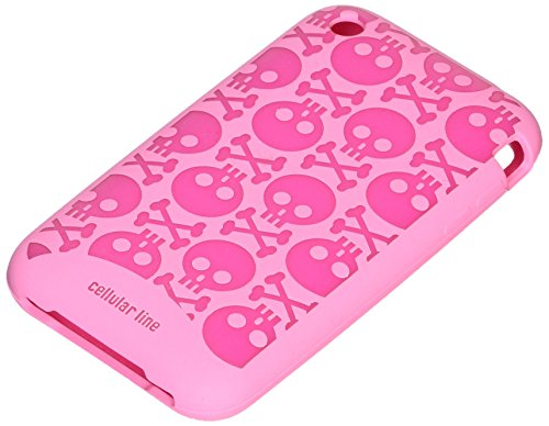 CELLULAR LINE Silikonetui Skull für Apple iPhone 3G/3GS rose/muster