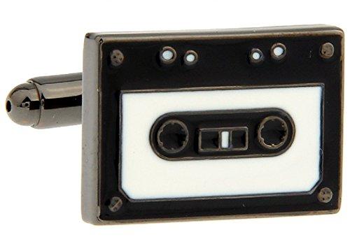 MRCUFF Cassette Tape DJ Pair Cufflinks in a Presentation Gift Box & Polishing Cloth