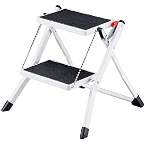 Amazon Com Truepower Compact Mini Folding 2 Step Stool