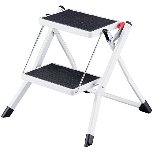 Compact Mini Folding 2-Step Stool Ladder by TruePower