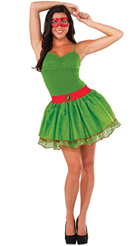 Tmnt Costumes Womens (Rubie's Costume Co Women's TMNT Classic Costume Raphael Tutu, Green, Standard)