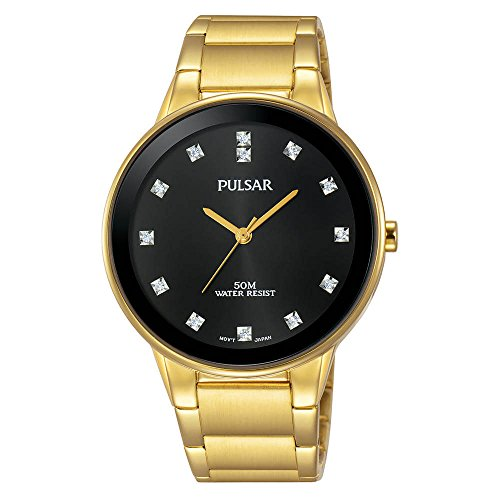 Pulsar Men's Quartz Brass and Stainless Steel Casual Watch, Color:Gold-Toned (Model: PG2052)