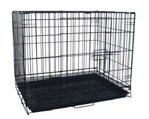 Large Black Wire Dog Kennel / Pet Cage 30'x21'x24'