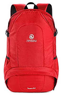 JINSOW 35L Lightweight Hiking Backpack Daypack, Water Resistant Camping Outdoor Travel Bag College School Laptop Business Backpacks for Women Men Boys Girls