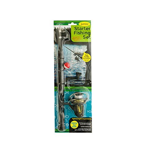 Bulk Buys Kids Play Junior Starter Fishing Set with Extendable Rod by bulk buys