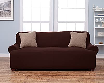 Lucia Collection Corduroy Form Fit Furniture Protector Slip Cover By Home Fashion Designs