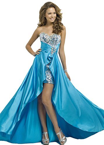 Skirt Gown Prom Low Dresses Hi Blue Evening Sheath Bridal Aurora with Cocktail 4W1qvRO4H