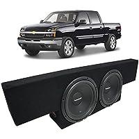 Fits 01-06 Chevy Silverado Non-HD Crew Truck Rockford Prime R1S410 Dual 10 Sub Box Enclosure - Final 2 Ohm