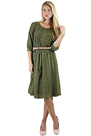 178bc4760c4 Clara Modest Dress in Moss Floral Print - XL at Amazon Women s ...
