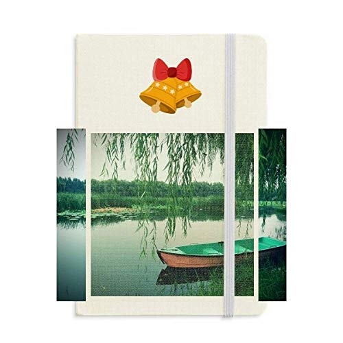 Willow Leaf Boat Lake Photography Notebook Journal Christmas Jingling Bell