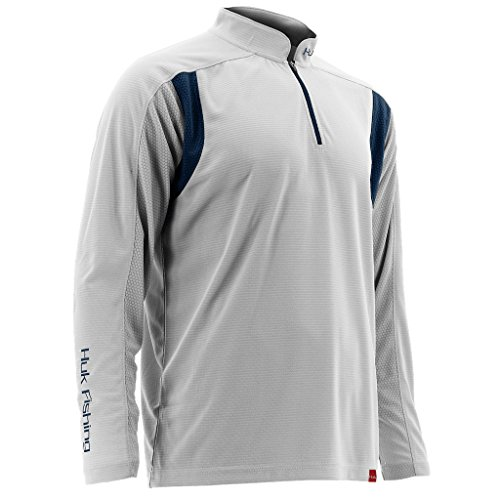 Huk Men's Trophy 1/4 Zip, White, 2X-Large