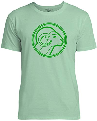 Austin Ink Apparel Green Aries Star Sign Unisex Womens Soft Cotton Tee, Mint Green, XX-Large ()