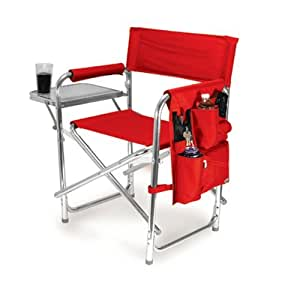 Aluminum Sports Chair, Red