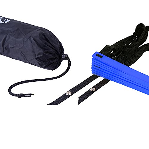 Ohuhu Agility Ladder with Black Carry Case, 12-Rung Blue