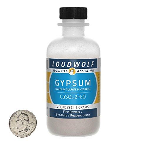 Gypsum / Fine Powder / 4 Ounces / 97% Pure Reagent Grade / SHIPS FAST FROM USA