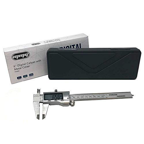 MMG Electronic Digital Caliper Range 0-150mm / 0-6 inches | Stainless Steel with Extra Large LCD Screen | Display Inch/Fractional Inch/Millimeters