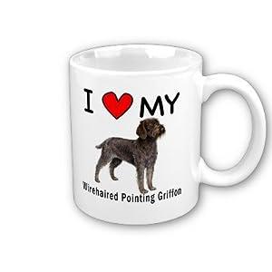 I Love My Wirehaired Pointing Griffon Coffee Mug by MyHeritageWear 8