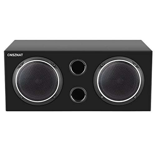 CNSZNAT P410 Center Channel Speaker, 4 Inch Hifi Speaker With Full Range Speaker (Black,Single) by CNSZNAT