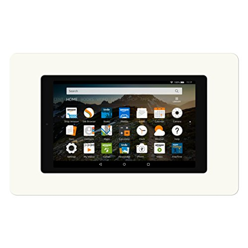 VidaMount On-Wall Tablet Mount - Amazon Fire HD8 7th Gen - White (2017) by VidaMount (Image #1)