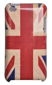 Einzige Hard Skin Case Cover for Apple iPod Touch 4G with Free Universal Screen-Stylus (Retro UK Flag)