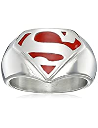 "DC Comics ""Superman"" Men's Comics Stainless Steel Ring, Size 10"