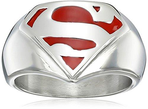 "Dc Comics Superman"" Men's Comics Stainless Steel Ring, Si..."