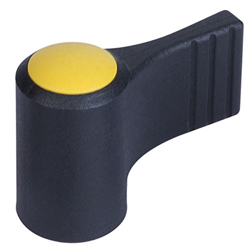 Bright Yellow Cap Color Kipp 06660-09067 Thermoplastic Wing Grips with M6 Thread One-Sided with Cap K Style Stainless Steel Bushing Metric Size 9