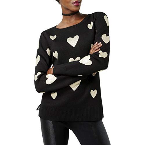 Metallic Nylon Sweater (INC Womens Hearts Knit Metallic Pullover Sweater Black L)