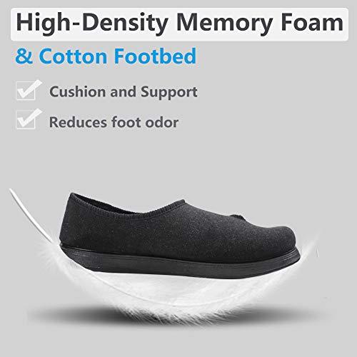 cb286e13292f Women s Adjustable Closure Diabetic Slippers Extra Wide Width Arthritis  Edema House Shoes