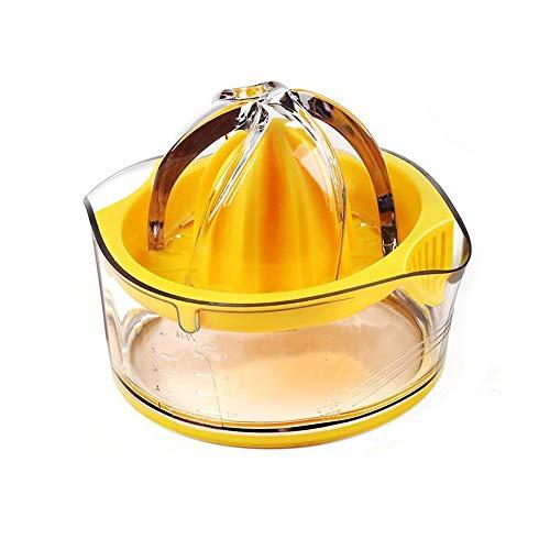 Viesky Mini Plastic Double Layer Household Manual Citrus Juicer Orange Lemon Fruit Squeezer Cup with Handle Pour Spout Portable Kitchen Machine