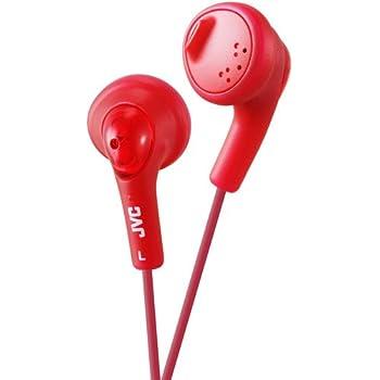 JVC HAF160R Gumy Ear Bud Headphone Red