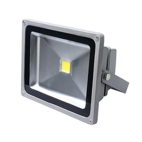Foco proyector LED 30W para Exteriores,Blanco Frio 6000-6500K ...