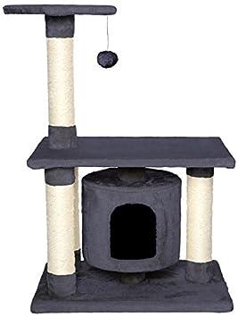 Dibea KB00222 Árbol Rascador Escalador para Gatos, Altura 90 cm, Color Gris: Amazon.es: Productos para mascotas
