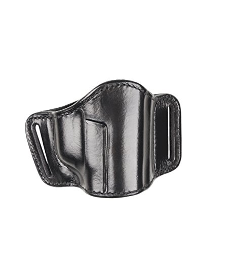 Bianchi 105 Minimalist, Suede Lined, Premium Leather Holster w/Elastic Strap & Leather Tab, Black, Right Hand, SZ13/15, Beretta 92F, 92FS, 96FS, Glock 17, 19, 22, 23, 26, 27, S&W M&P 1.0/2.0 9mm, .40, .45, Taurus PT-111 Bianchi Suede Belt Holster