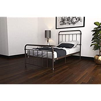 Amazon Com Wallace Metal Bed Frame In Dark Bronze With