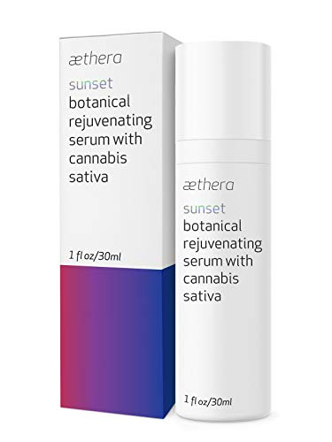 Aethera Beauty Sunset Botanical Rejuvenating Serum with Cannabis Sativa - A soothing night serum to diminish effects of daily st